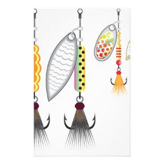 Papelaria Grupo de giradores que pescam a ilustração do