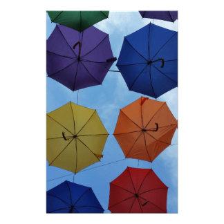 Papelaria Guarda-chuvas coloridos