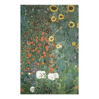 Papelaria Gustavo Klimt - flores dos girassóis do jardim do