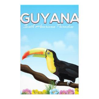 Papelaria Guyana sul - poster de viagens americano do