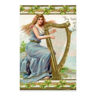 Papelaria Harpa & senhora originais do dia de patrick de
