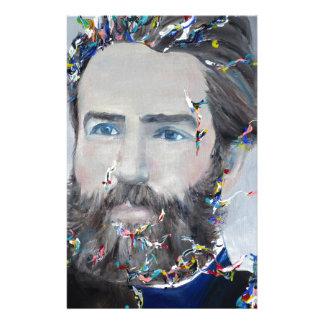 Papelaria Herman Melville - retrato do óleo