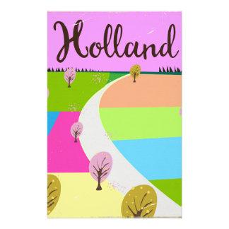 Papelaria Holland coloca o poster de viagens