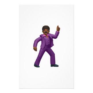 Papelaria Homem da dança de Emoji