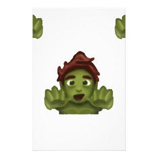 Papelaria homem do zombi do emoji