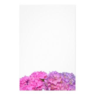 Papelaria Hydrangeas cor-de-rosa & azuis
