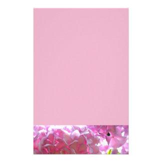 Papelaria Hydrangeas cor-de-rosa brilhantes