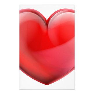 Papelaria Ícone do coração 3d