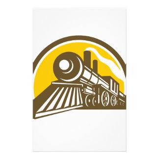 Papelaria Ícone do trem da locomotiva de vapor