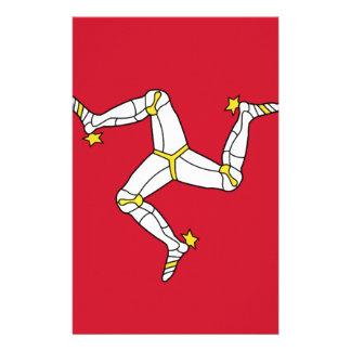 Papelaria Ilha da bandeira do homem - bandeira Manx -