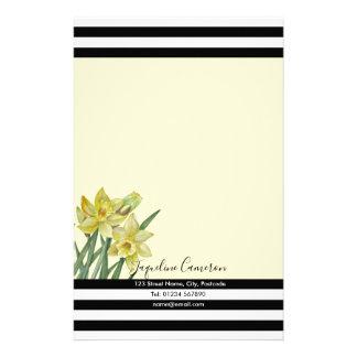 Papelaria Ilustração botânica dos Daffodils da aguarela