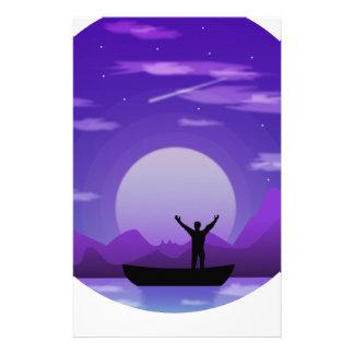 Papelaria Ilustração da noite da paisagem