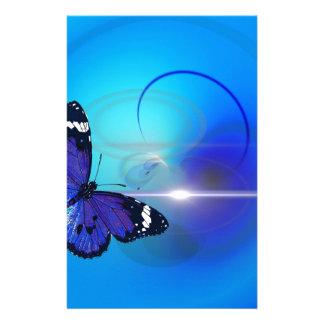 Papelaria Imagem azul da borboleta