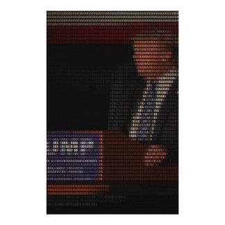 Papelaria Imagem de Donald Trump feita de sinais de dólar