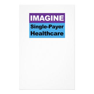 Papelaria Imagine únicos cuidados médicos do pagador