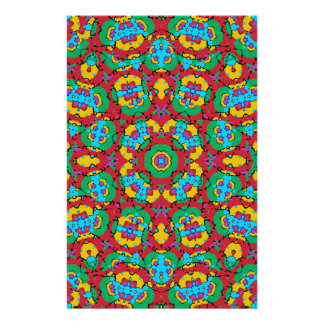 Papelaria Impressão colorido geométrico