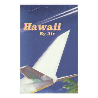 Papelaria Impressão das férias do vintage do vôo de Havaí