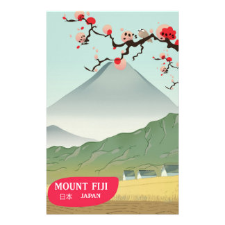 Papelaria impressão das viagens vintage de fiji Japão da