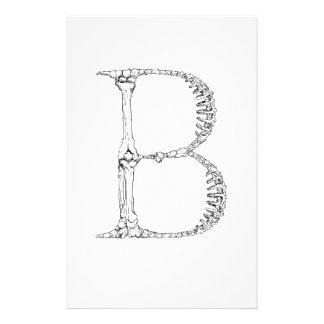 Papelaria Inicial do osso da letra B