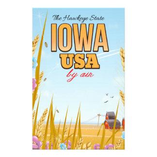 """Papelaria Iowa EUA """"cartaz do viagem dos desenhos animados"""