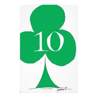 Papelaria Irlandês afortunado 10 dos clubes, fernandes tony
