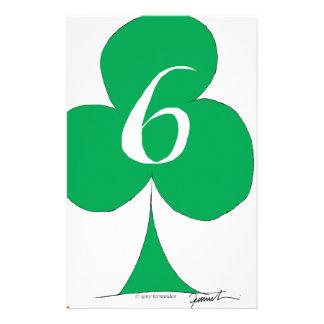 Papelaria Irlandês afortunado 6 dos clubes, fernandes tony