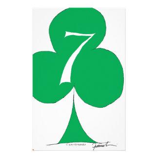 Papelaria Irlandês afortunado 7 dos clubes, fernandes tony
