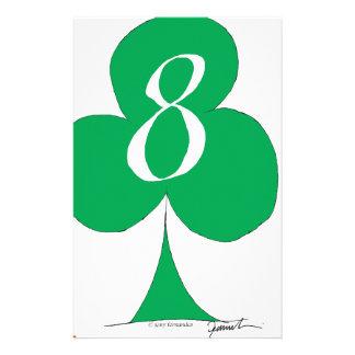 Papelaria Irlandês afortunado 8 dos clubes, fernandes tony