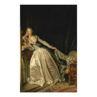 Papelaria Jean-Honore Fragonard - o beijo roubado - belas