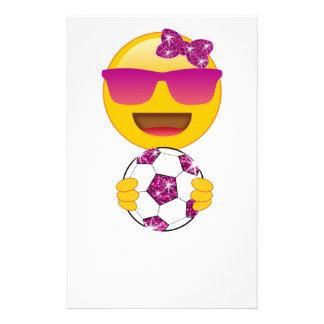 Papelaria Jogador de futebol Emoji para meninas