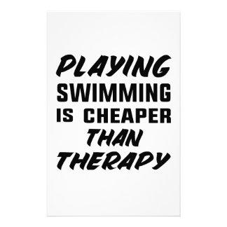 Papelaria Jogar a natação é mais barato do que a terapia