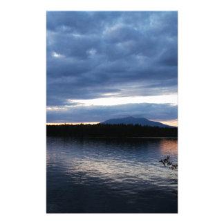 Papelaria Lago Maine Katahdin Millinocket da montagem no