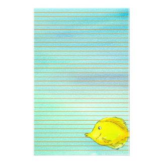Papelaria Laranja tropical amarela dos peixes de Tang