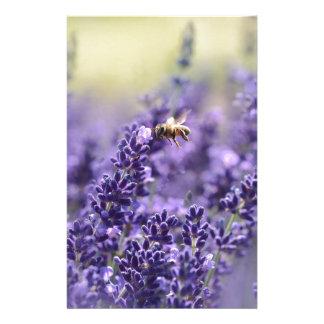 Papelaria Lavanda e bloco de notas das abelhas