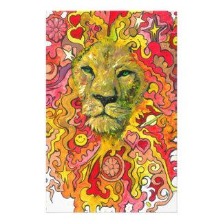 Papelaria Leão psicadélico