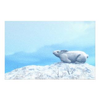 Papelaria Lebre ártica, lepus ártico, ou coelho polar