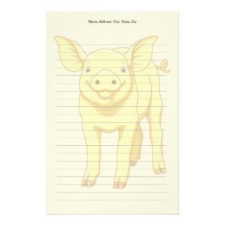 Papelaria Leitão bonito porco dia do 17 de julho amarelo