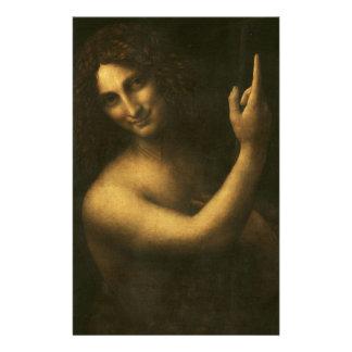 Papelaria Leonardo da Vinci - pintura de John The Baptist do