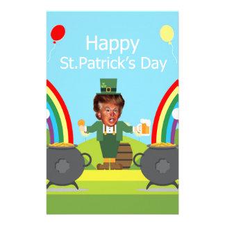 Papelaria leprechaun de Donald Trump