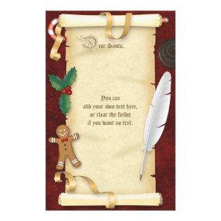 Papelaria Letra do rolo do pergaminho do Natal ao papai noel