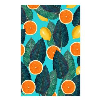 Papelaria limões e cerceta das laranjas