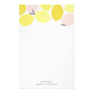 Papelaria Limonada cor-de-rosa