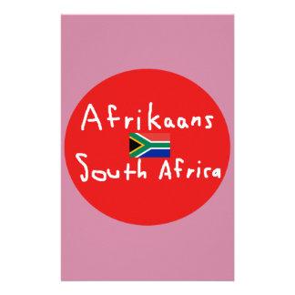 Papelaria Língua e bandeira de África do Sul do holandês