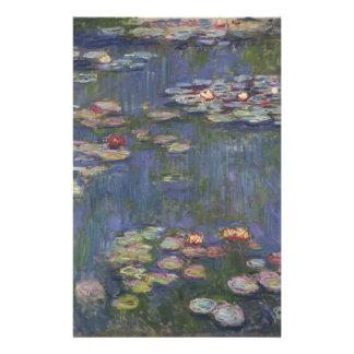 Papelaria Lírios de água por Claude Monet