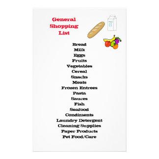 Papelaria Lista de compra geral