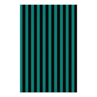 Papelaria Listras finas - preto e verde do pinho