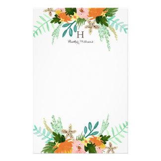 Papelaria Litoral personalizado de | floral