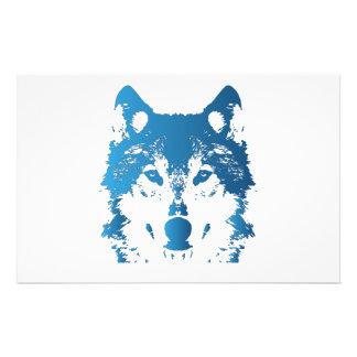 Papelaria Lobo do azul de gelo da ilustração