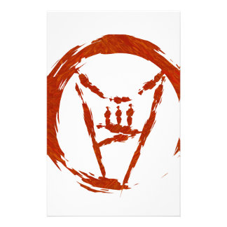 Papelaria Logotipo do universo do metal pesado