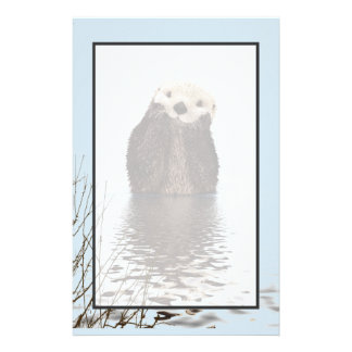Papelaria Lontra bonito que está em uma lagoa que guardara